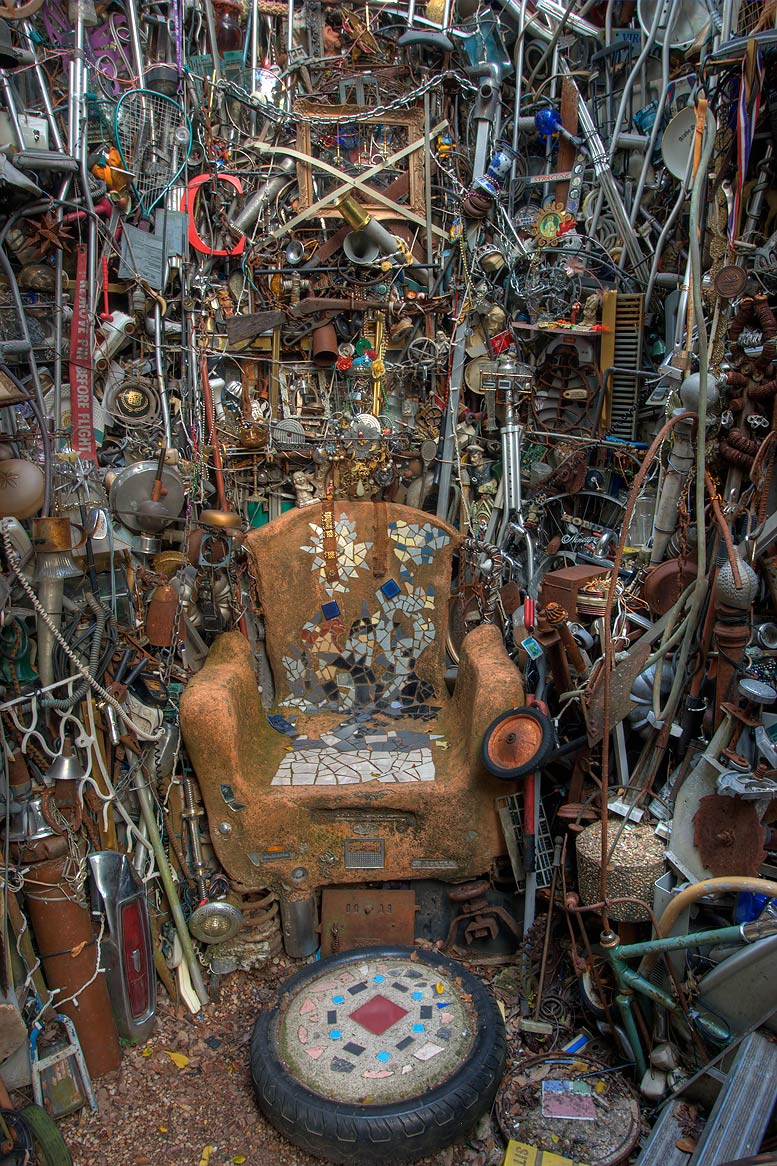 Throne Hall in Cathedral of Junk at 4422 Lareina...s backyard folk art). Austin, Texas