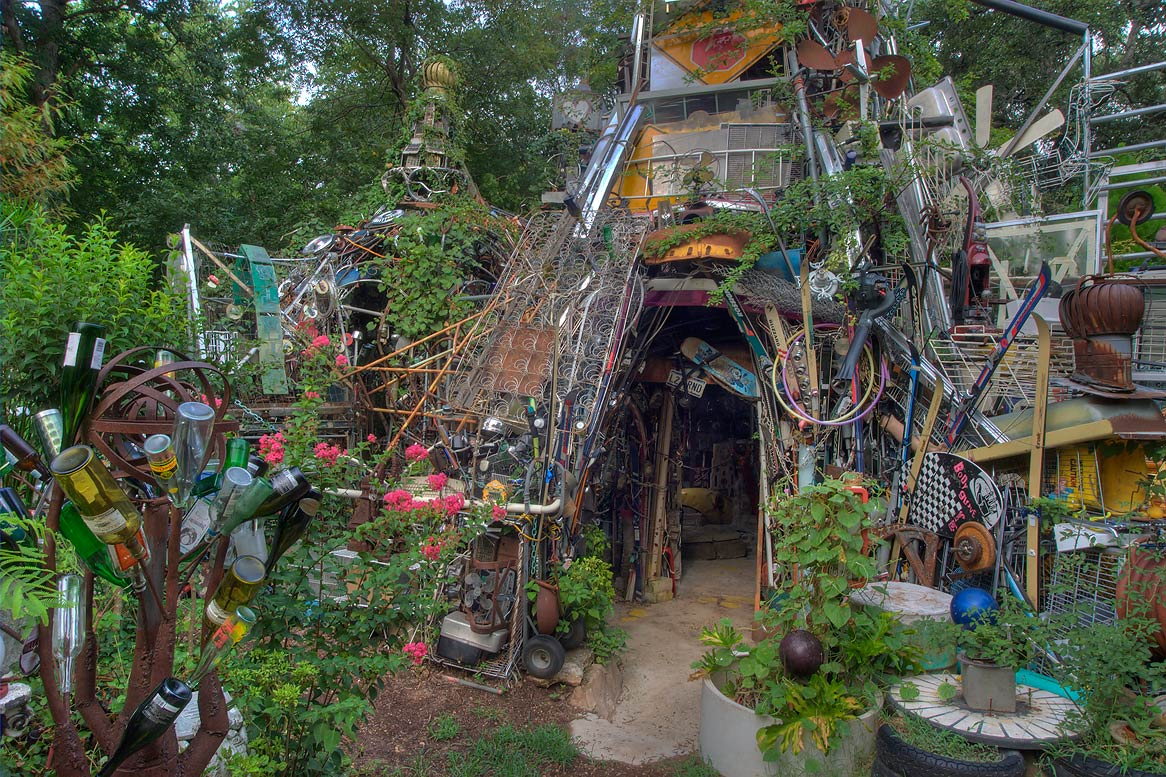 Superb Backyard Junk Art