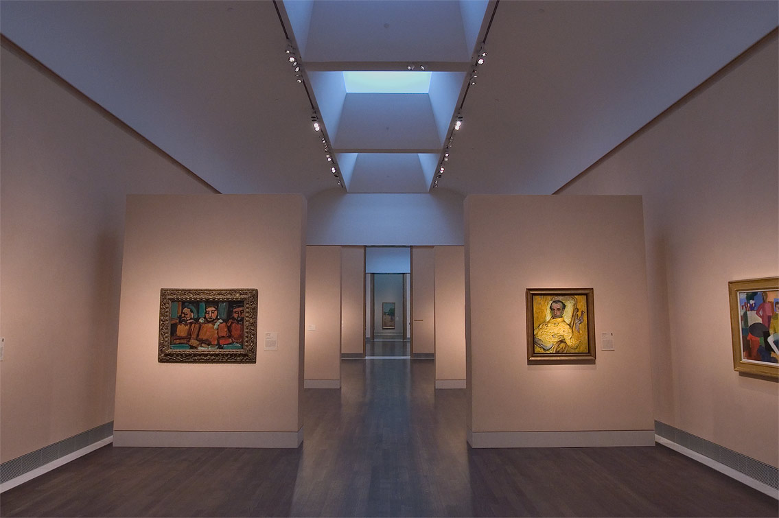 Hall with paintings in Museum of Fine Arts. Houston, Texas