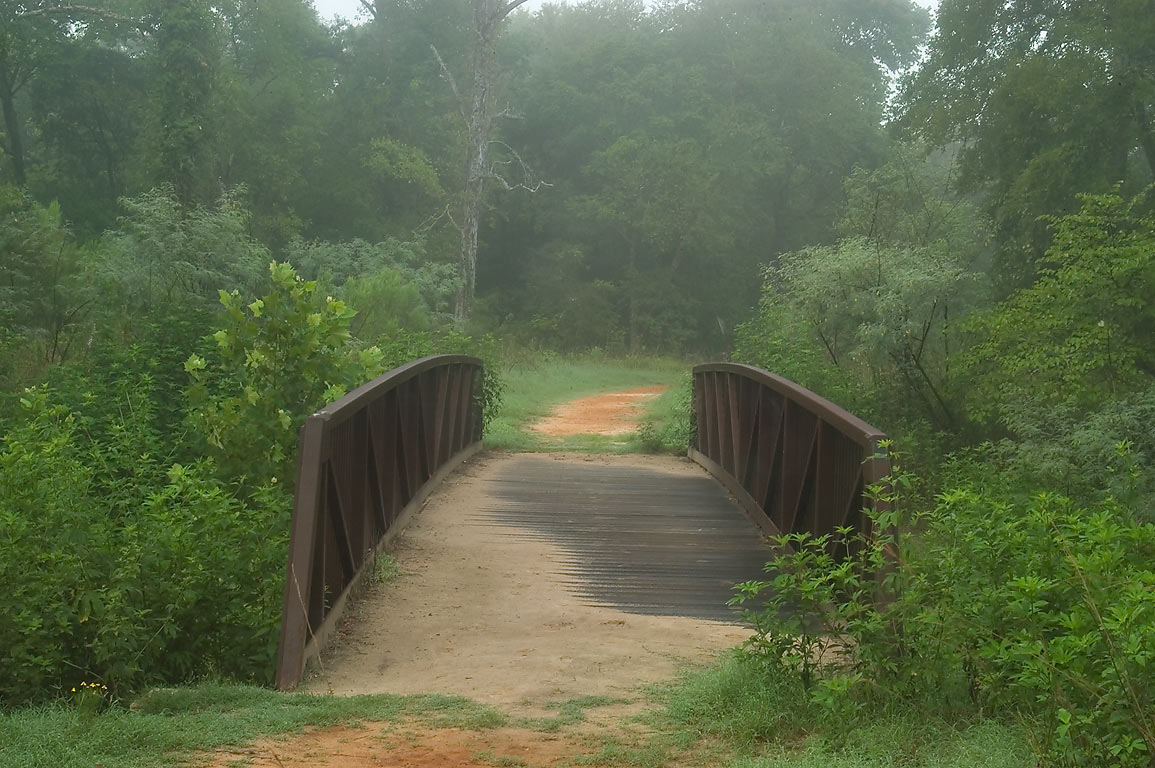 Deer Run Trail bridge in Lick Creek Park. College Station, Texas