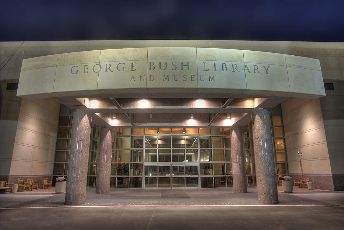 Entrance of George Bush Library and Museum. College Station, Texas