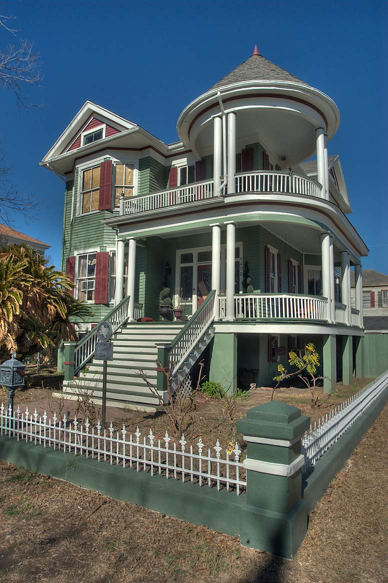 George Fox House at 1402 Ball St., a corner of...Historic District. Galveston, Texas