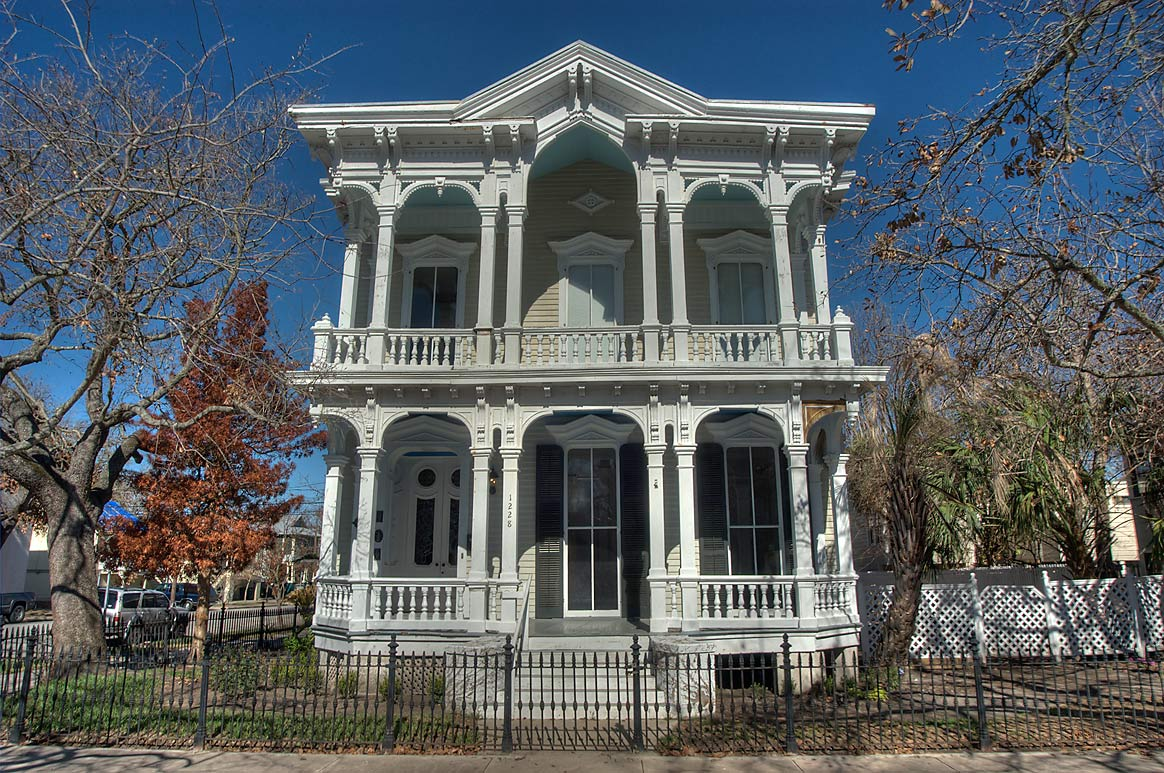 Lemuel C. Burr house (1876) at 1228 Sealy St...Historic District. Galveston, Texas