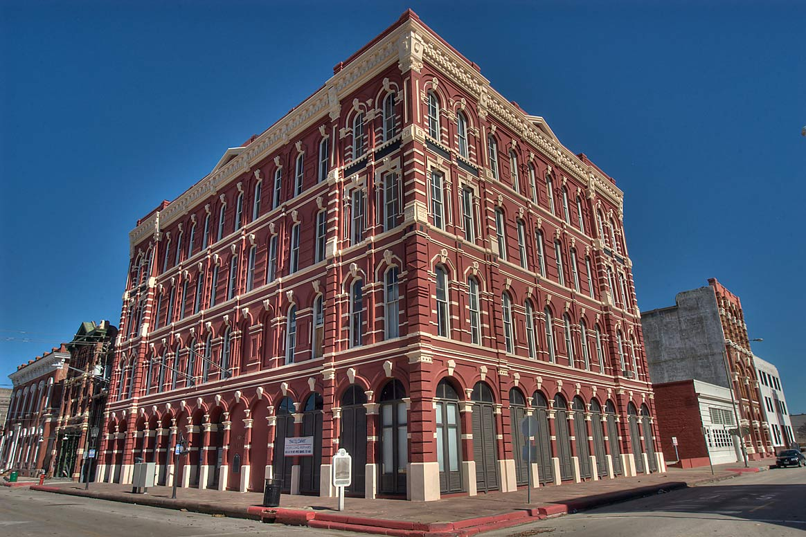 Stewart building (1882) at a corner of Kempner at...in Strand district. Galveston, Texas