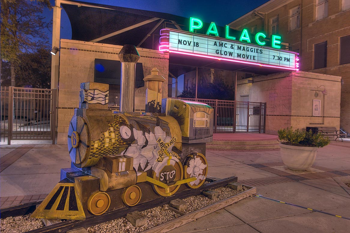 Palace Theater on Main St. in downtown Bryan. Texas