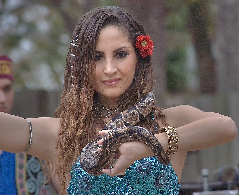 Snake dance by Soraya from Gypsy Dance Theater...Festival. Plantersville, Texas