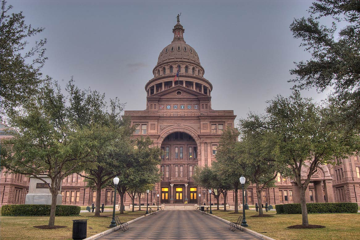 Texas Capitol, view from north. Austin, Texas