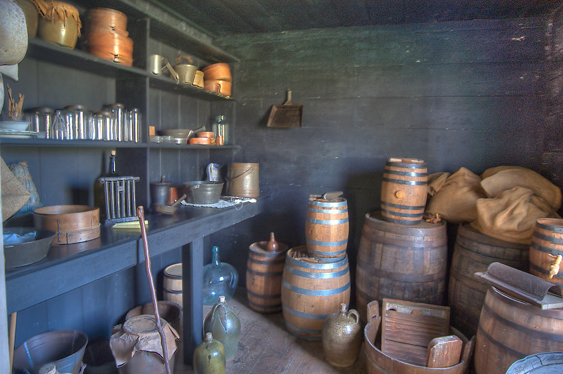 Storage room in Fanthorp Inn (19th century stagecoach inn). Anderson, Texas