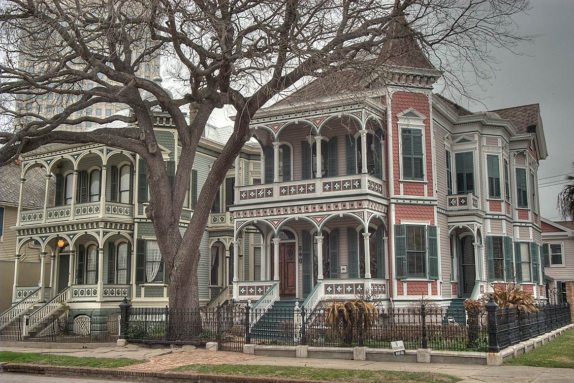Houses at 1808 Postoffice St.. Galveston, Texas
