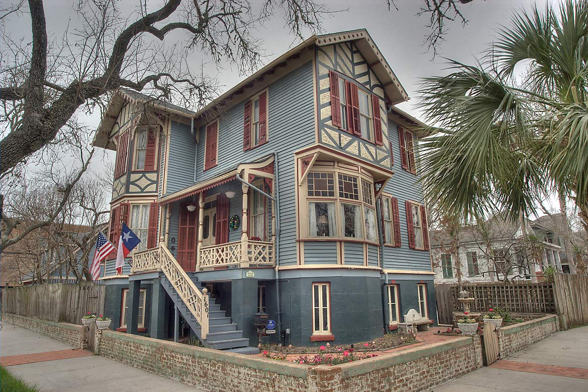 Mather House (1887) on Winnie St. near 19th St...Historic District. Galveston, Texas