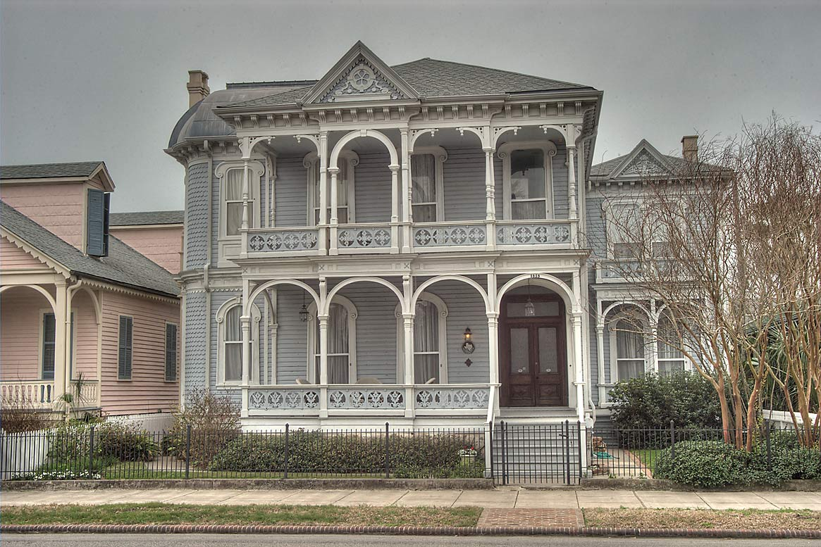 Archibald R. Campbell House (1871) at 1515 Broadway Ave.. Galveston, Texas