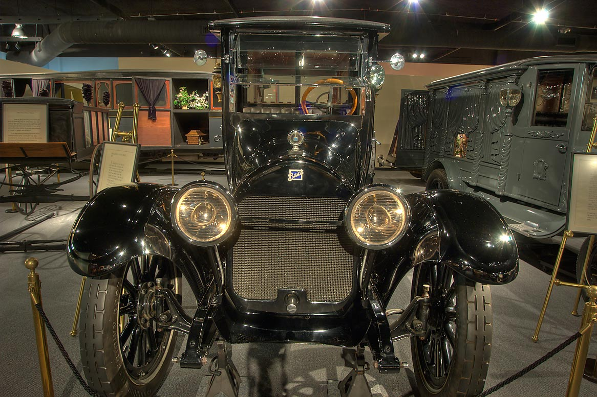 Buick funeral coach in National Museum of Funeral History. Houston, Texas
