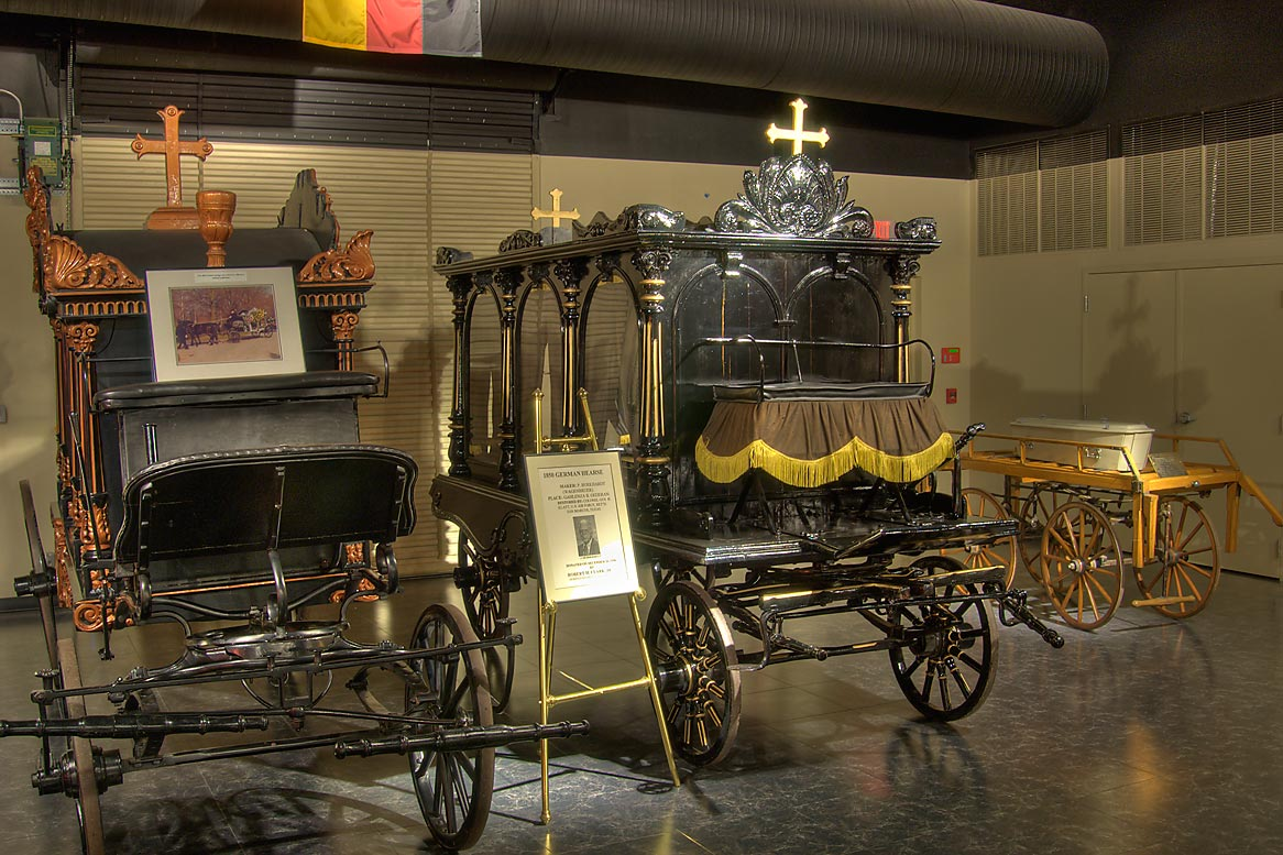 "1860 German ""Glaswagen"" funeral coach and 1850...of Funeral History. Houston, Texas"