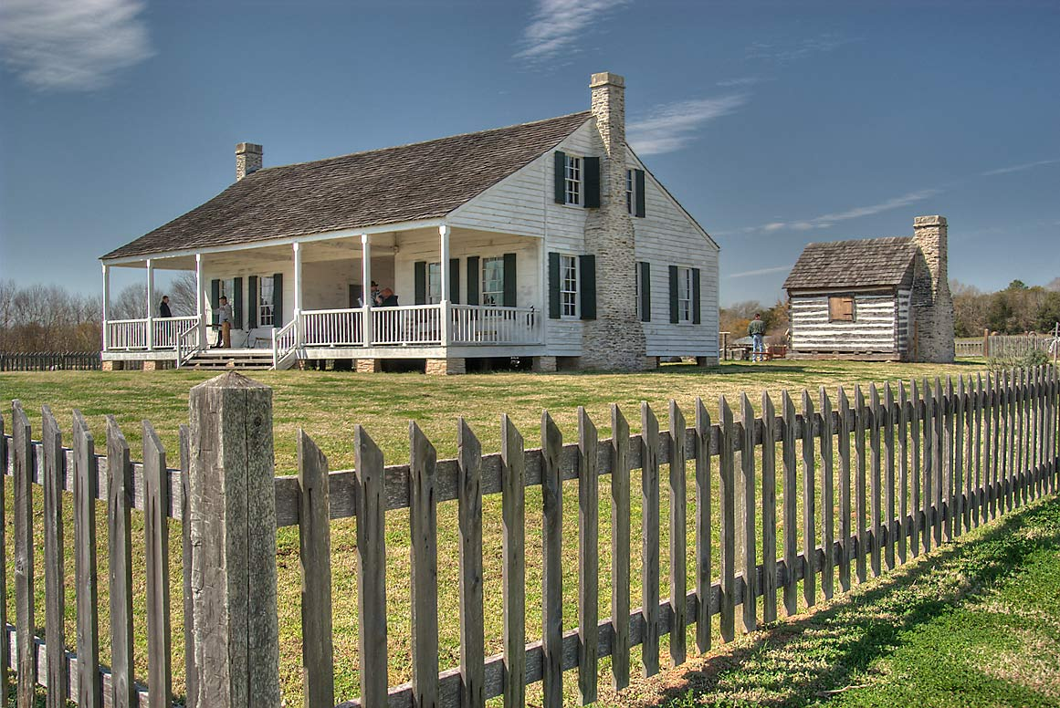 Anson Jones House and slaves cabin in Barrington...State Historic Site. Washington, Texas