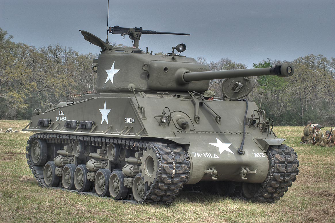 Tank 7A-181D at WWII re-enactment in Museum of the American GI. College Station, Texas