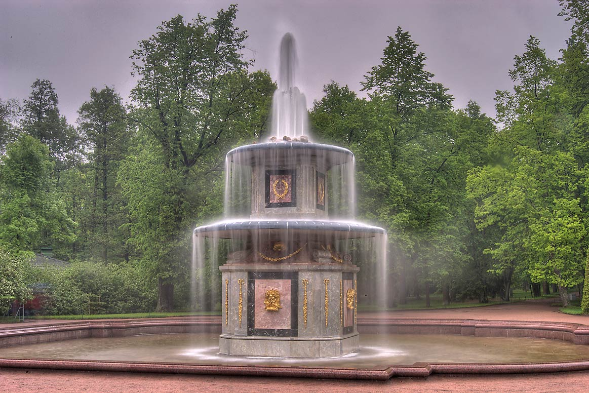 One of two Roman Fountains in Peterhof (Petrodvorets), near St.Petersburg. Russia