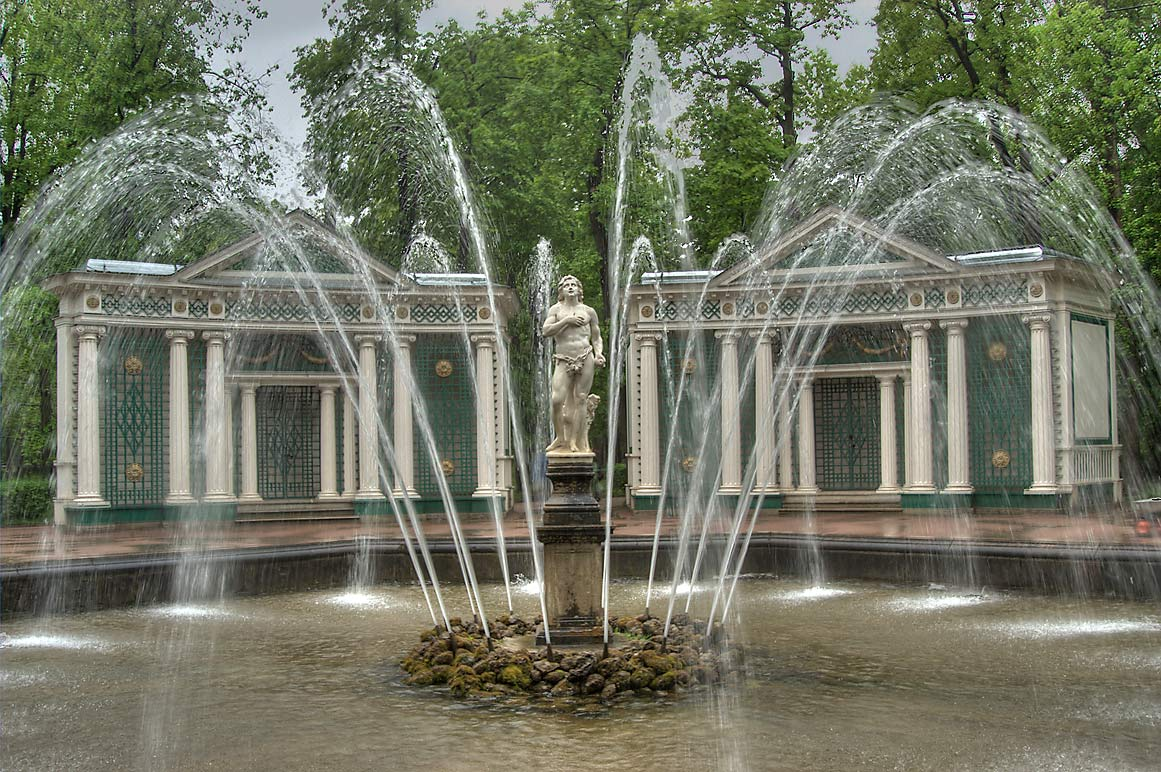Eve fountain in peterhof petrodvorets near saint petersburg russia