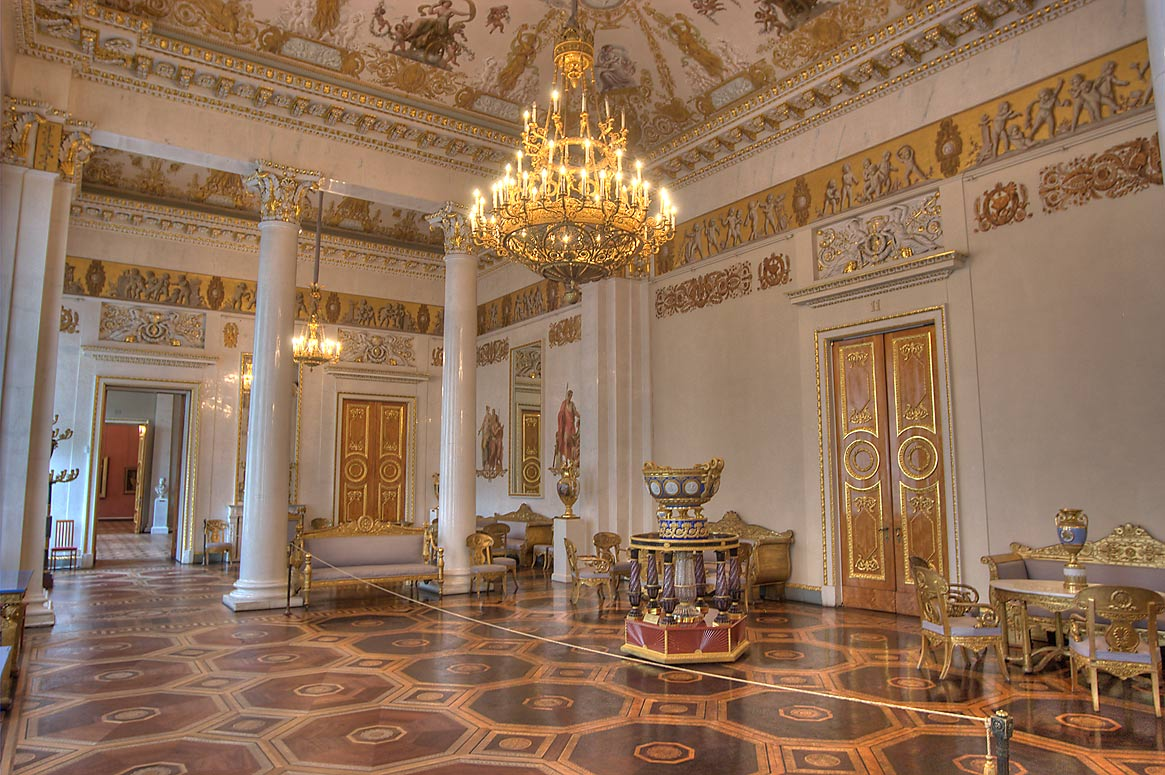 White Hall (Hall No. 11) in Russian Museum. St.Petersburg, Russia