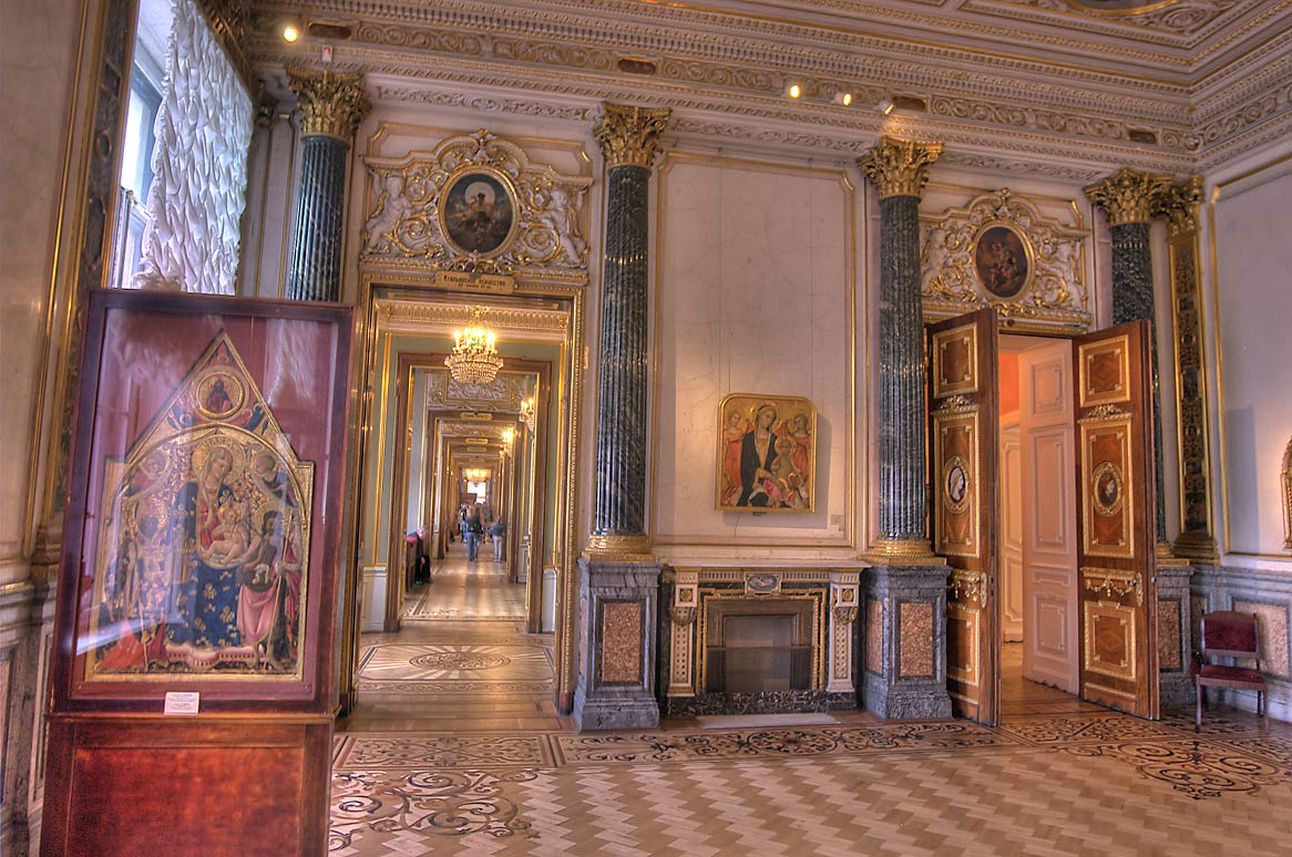 Room of Italian Art of the 13th to Early 15th...Museum. St.Petersburg, Russia