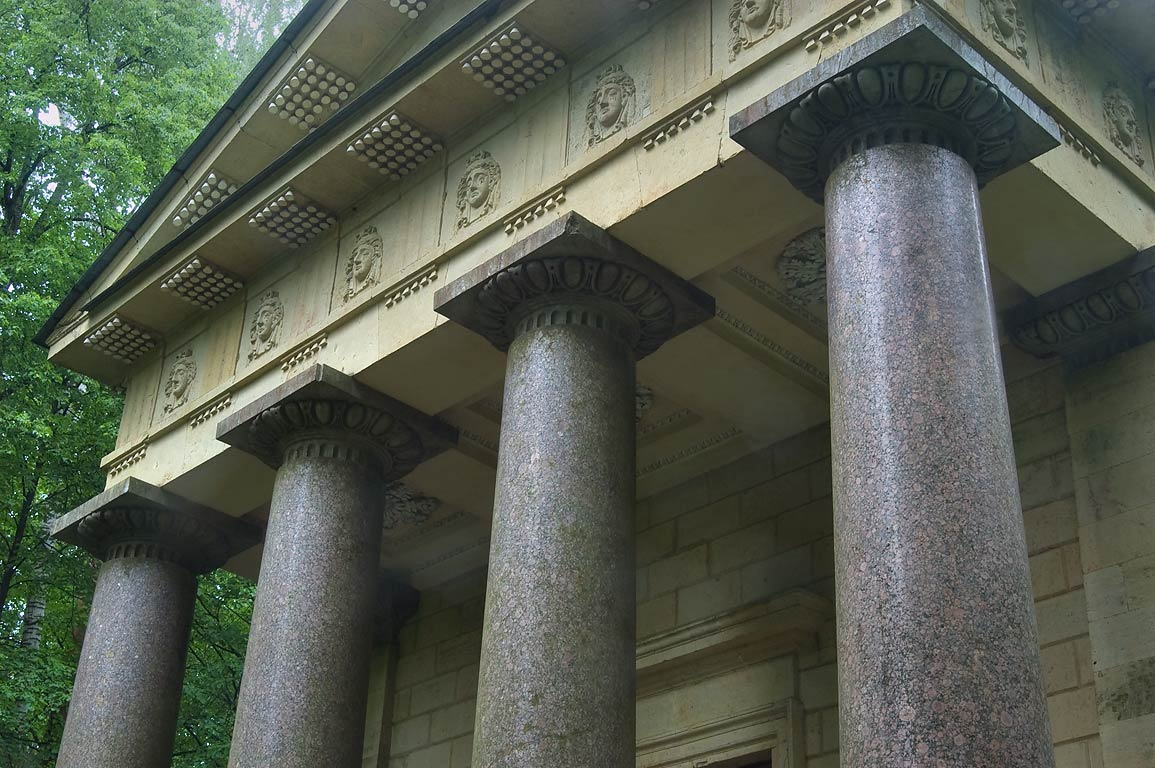 "Granite columns of Mausoleum ""To kind spouse"" in...a suburb of St.Petersburg, Russia"