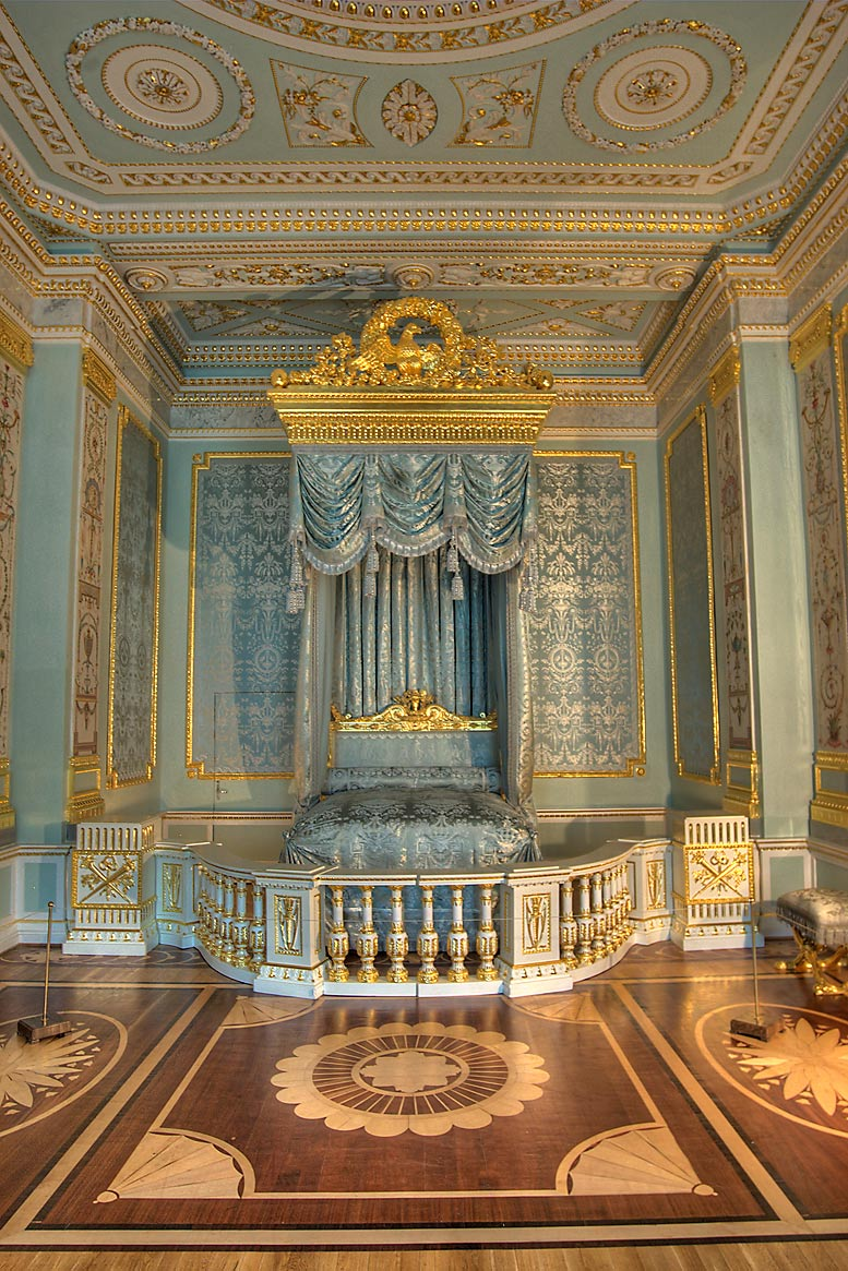 Grand Sleeping Room in Gatchina Palace. Gatchina, a suburb of St.Petersburg, Russia