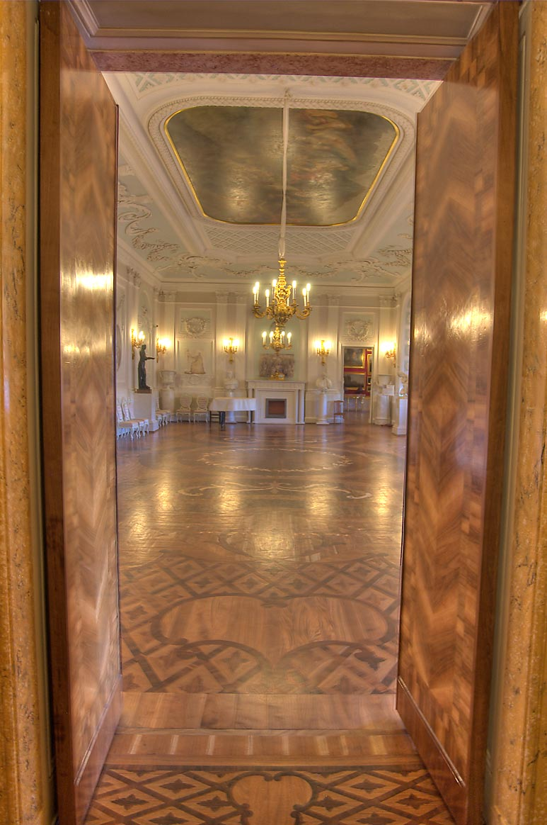 Passage to White Hall of Gatchina Palace. Gatchina, a suburb of St.Petersburg, Russia
