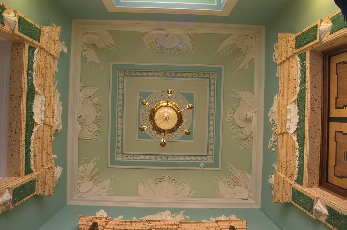 Plafond of Passage Room (Prokhodnaya) of Gatchina...a suburb of St.Petersburg, Russia