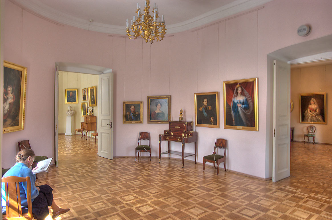 Portrait galleries in Gatchina Palace. Gatchina, a suburb of St.Petersburg, Russia