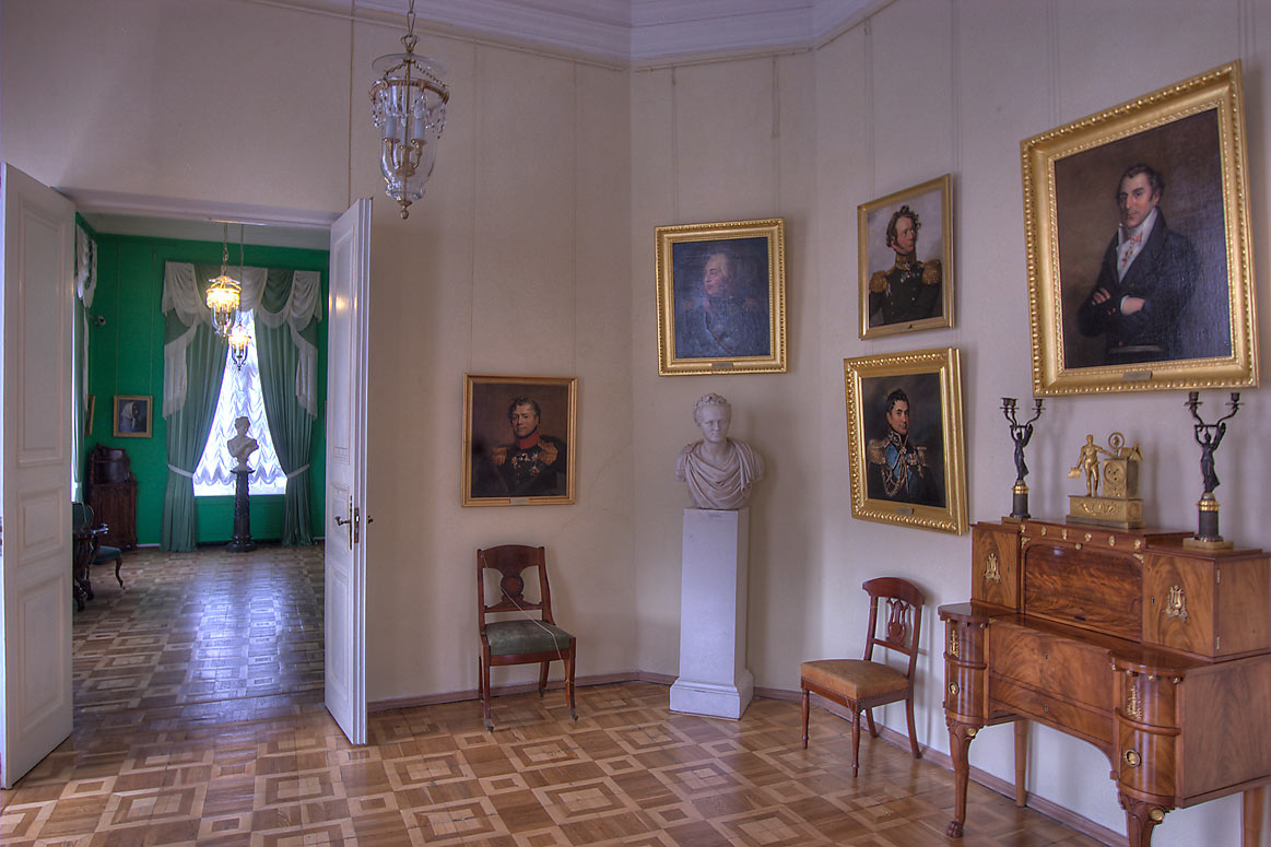 Decorated room in Gatchina Palace. Gatchina, a suburb of St.Petersburg, Russia