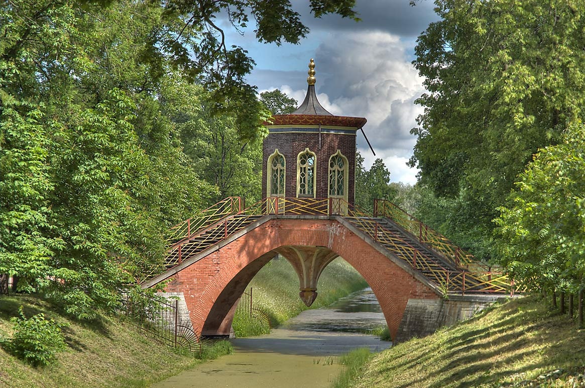 Cross Bridge (Krestovy Most) near Catherine...a suburb of St.Petersburg. Russia