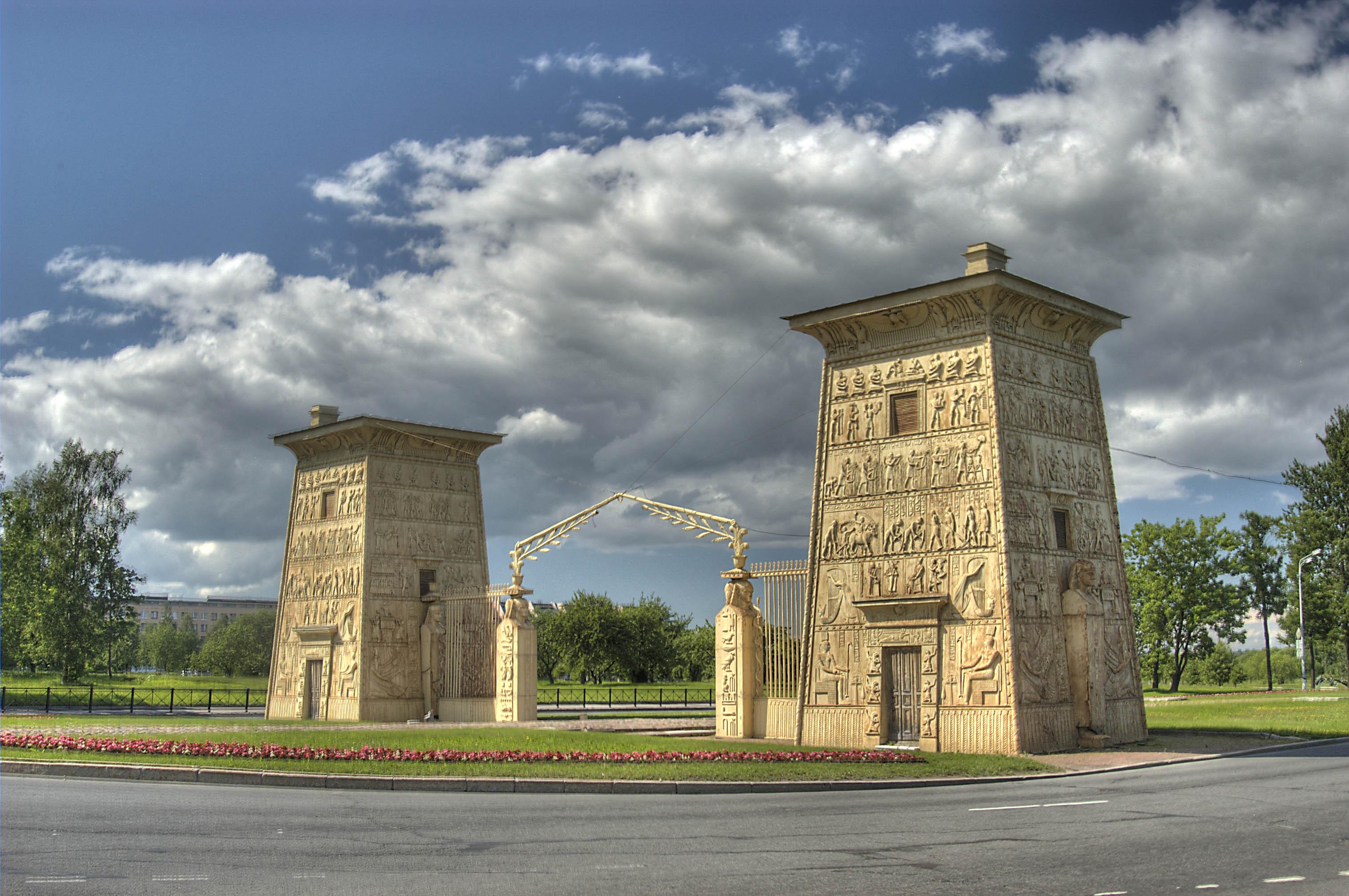 Photo 765-05: Egyptian Gate in Pushkin (former Tsarskoe ...