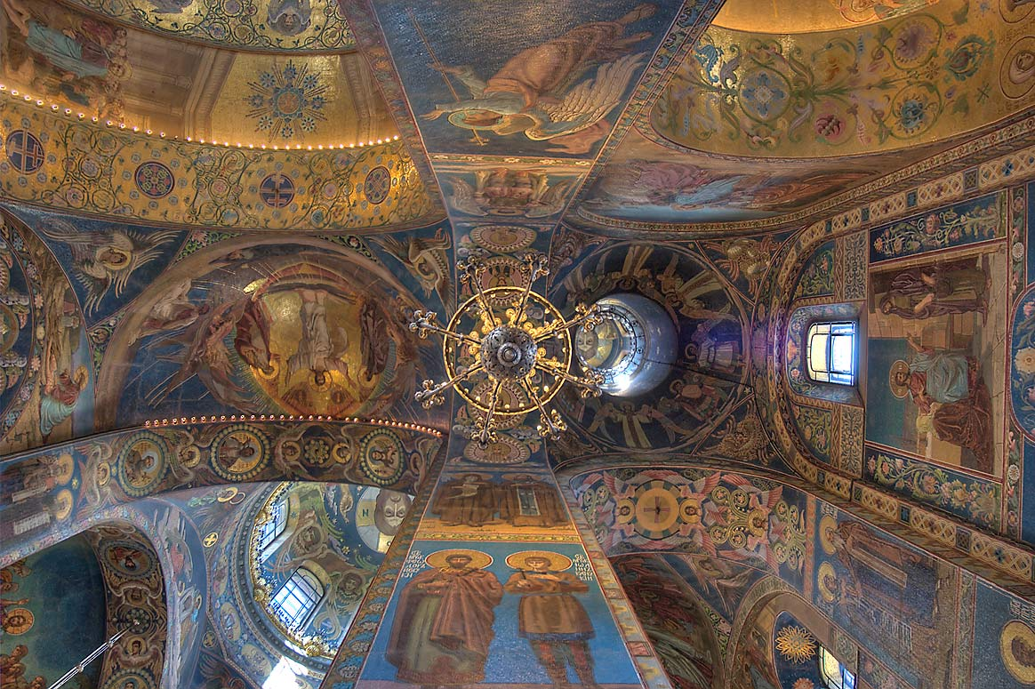 Ceiling of Church of Savior on Blood. St.Petersburg, Russia