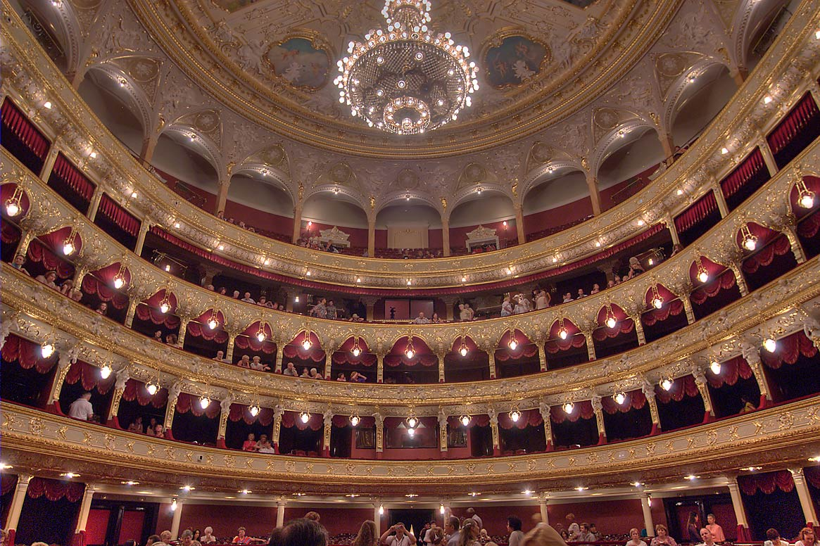 Interior of National Theater of Opera and Ballet. Odessa, Ukraine