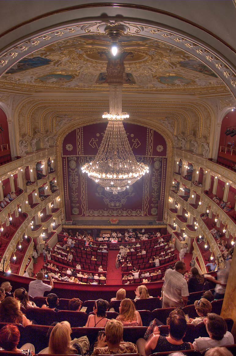 Hall of National Theater of Opera and Ballet. Odessa, Ukraine
