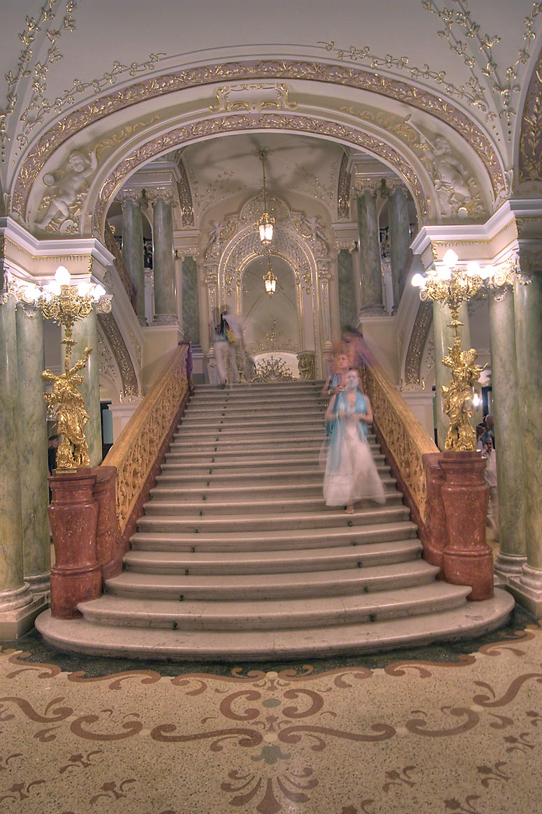 Grand stairs of National Theater of Opera and Ballet. Odessa, Ukraine
