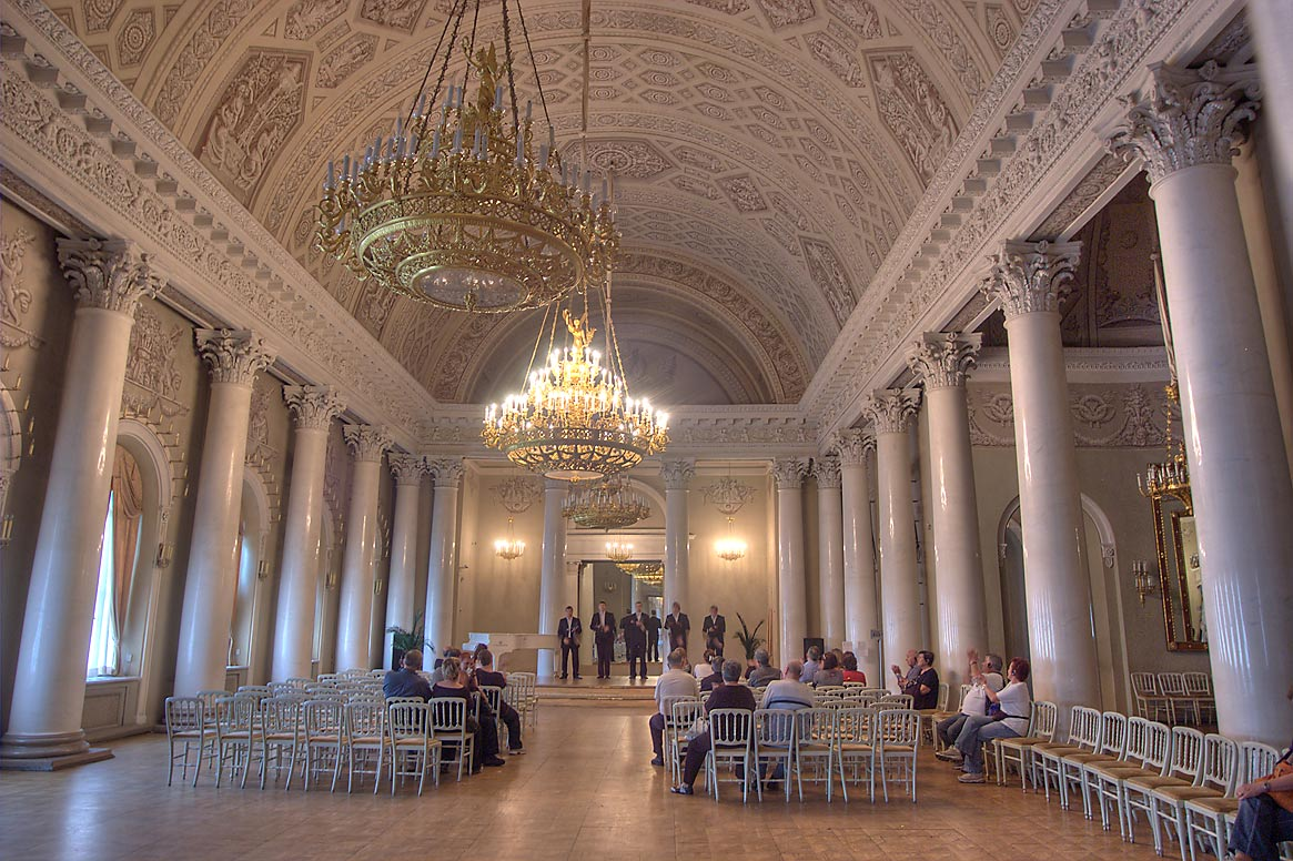 Performance in Banquet Hall of Yusupov Palace. St.Petersburg, Russia