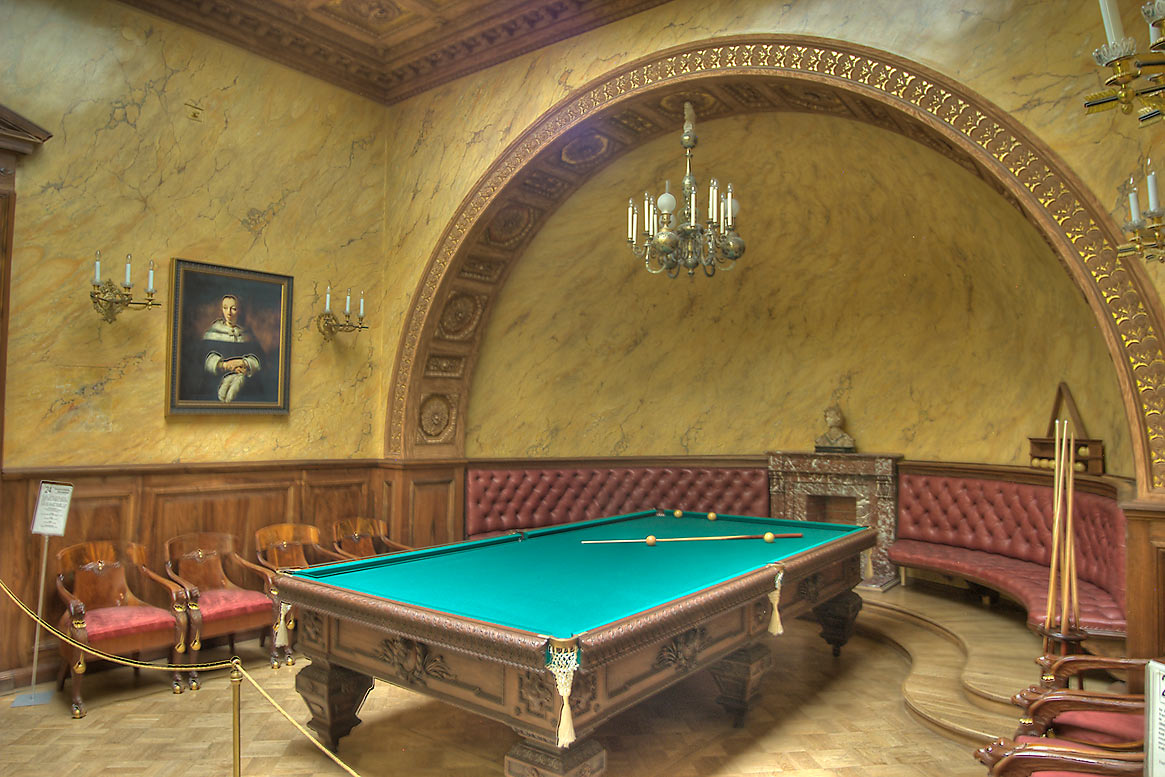 Billiard Room (Turkish Room) of Yusupov Palace. St.Petersburg, Russia