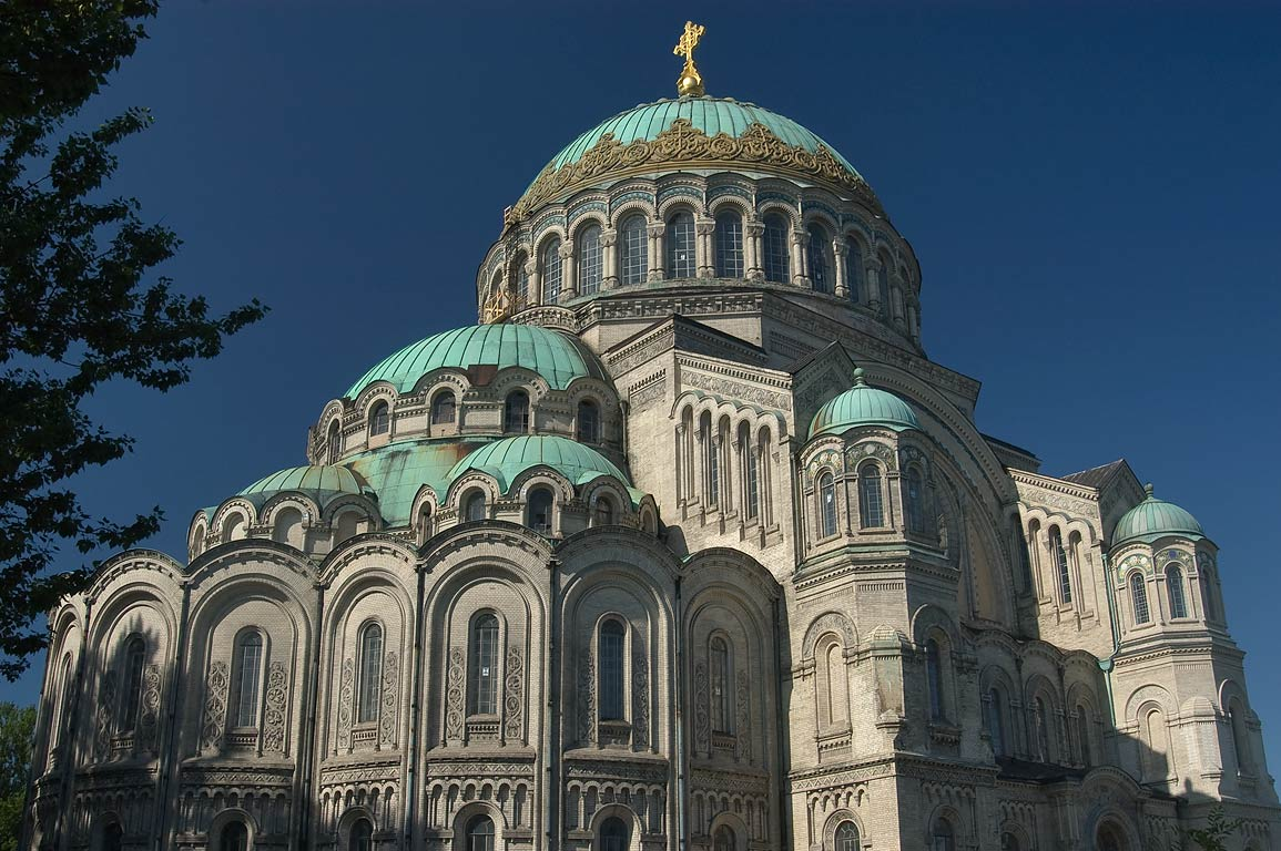 Naval Cathedral of St.Nicholas, view from north...part of St.Petersburg), Russia