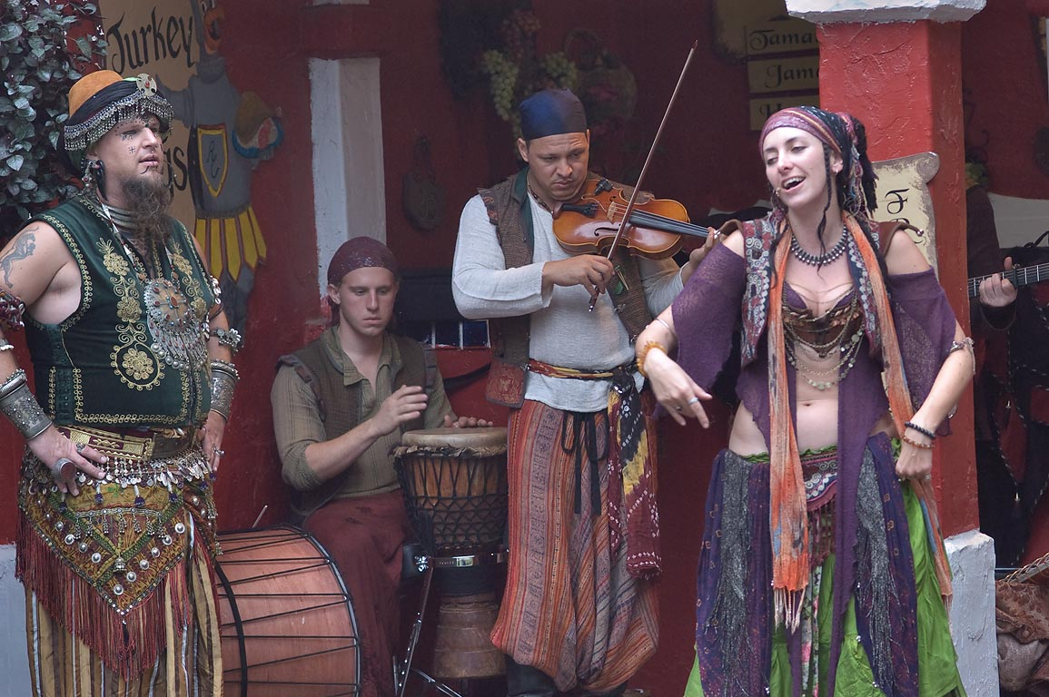 Gypsy performance of Wine and Alchemy band at...Festival. Plantersville, Texas
