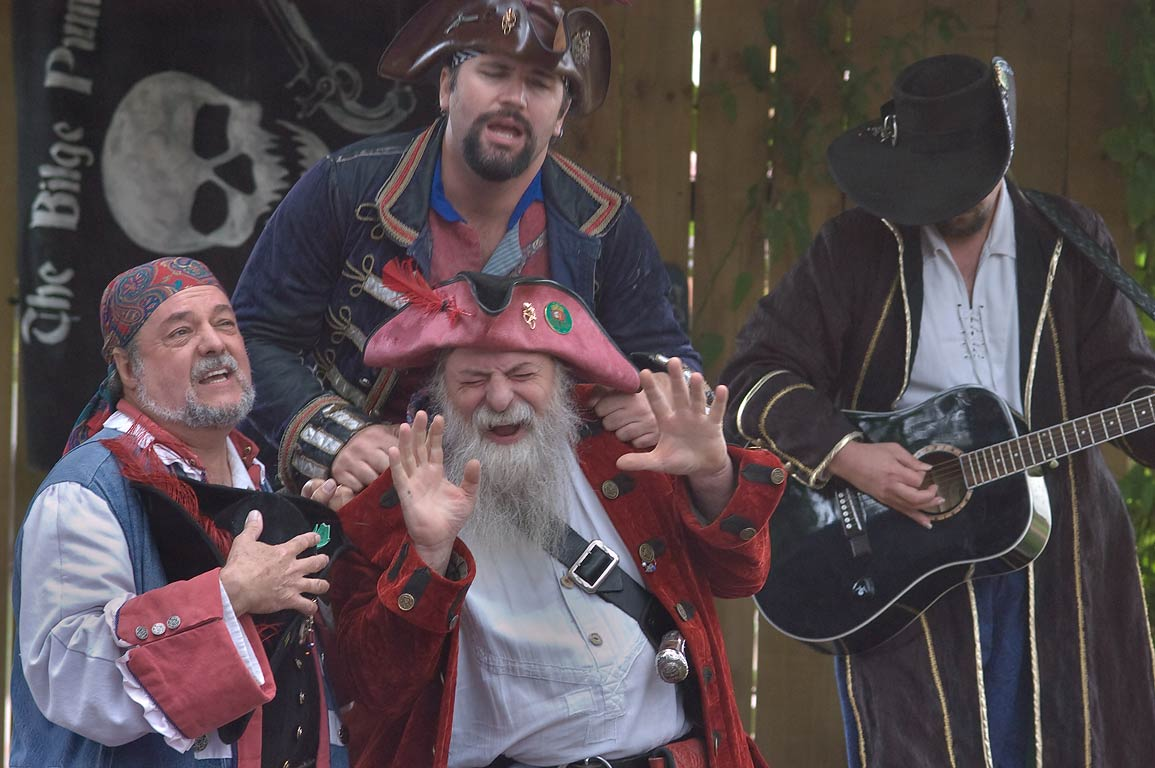 Pirate performance at Texas Renaissance Festival. Plantersville, Texas