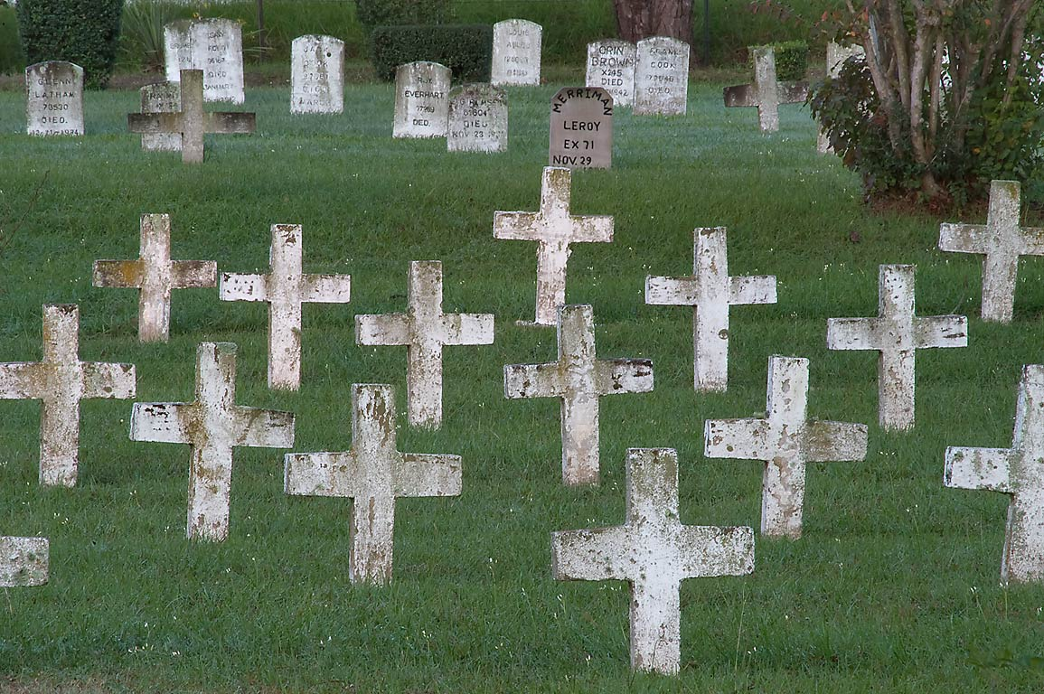 Crosses of TDCJ Captain Joe Byrd (Peckerwood Hill) Cemetery. Huntsville, Texas