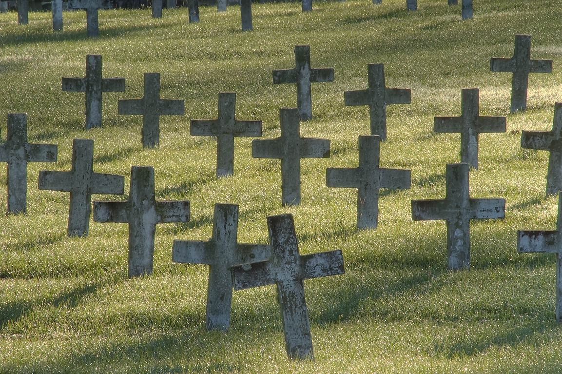 Rows of crosses of TDCJ Captain Joe Byrd (Peckerwood Hill) Cemetery. Huntsville, Texas