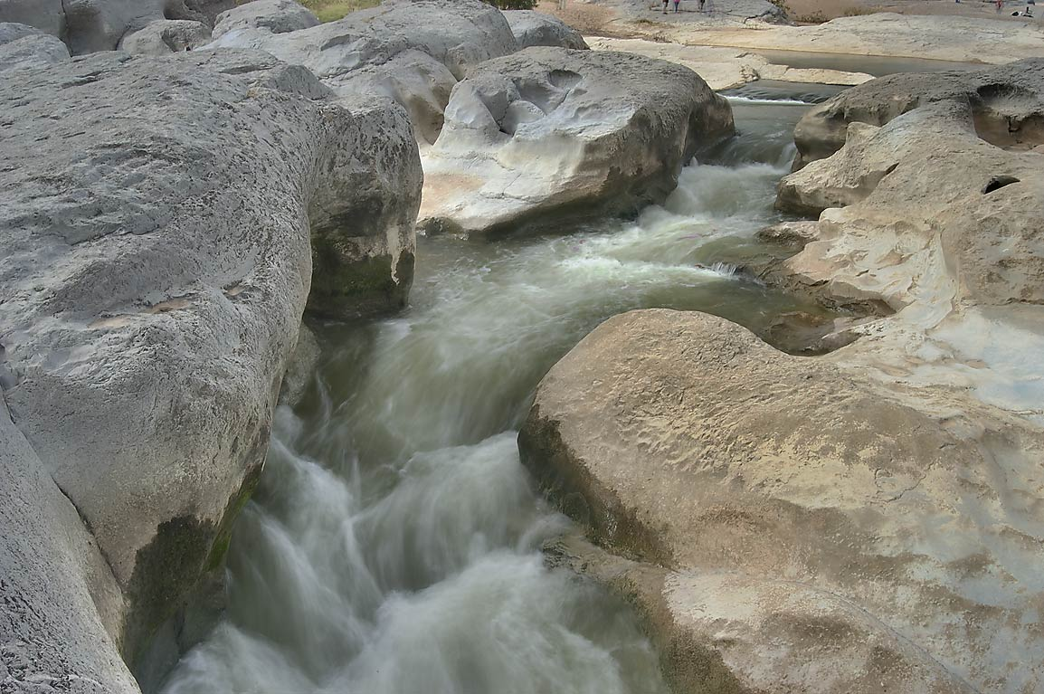 Water stream near Pedernales Falls. Johnson City, Texas