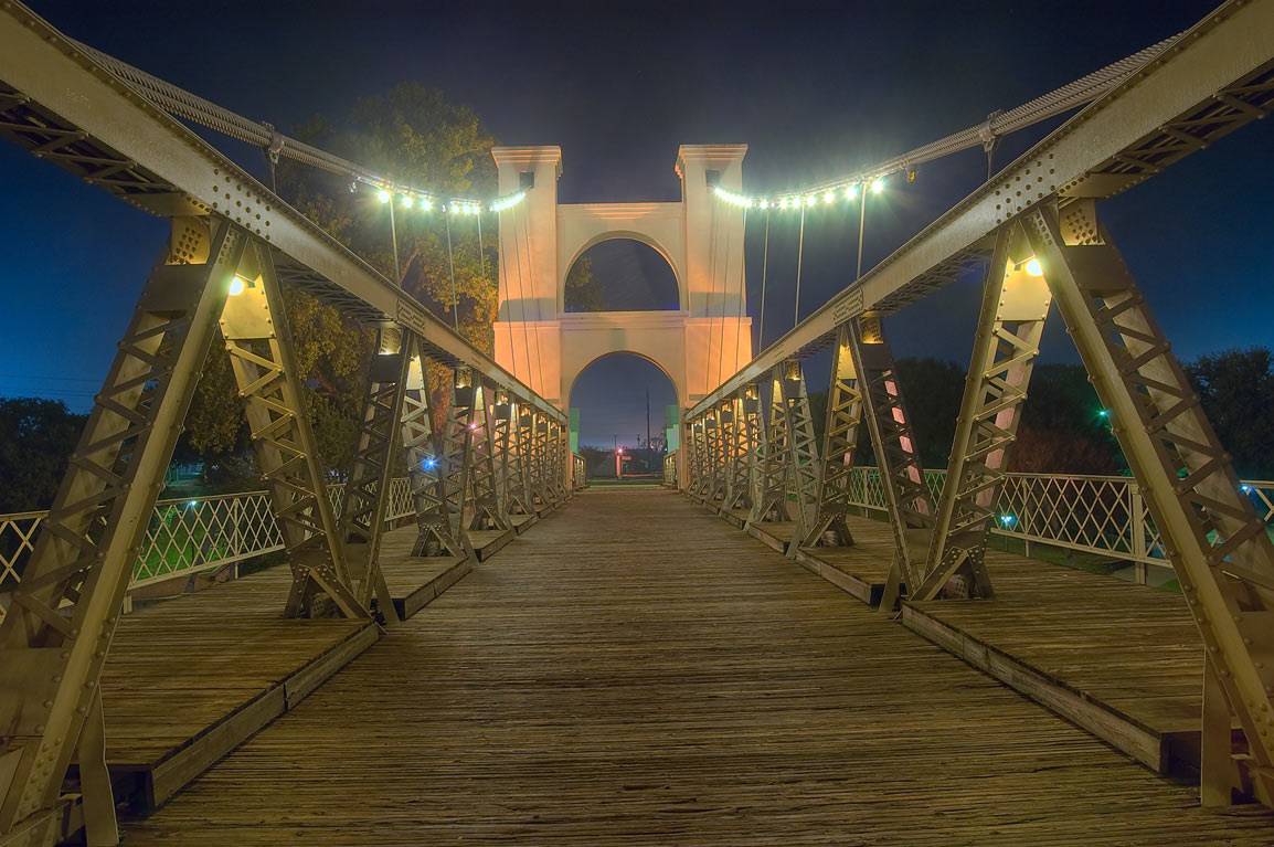 Waco - College Station, Texas  - Waco Suspension Bridge. Waco, Texas