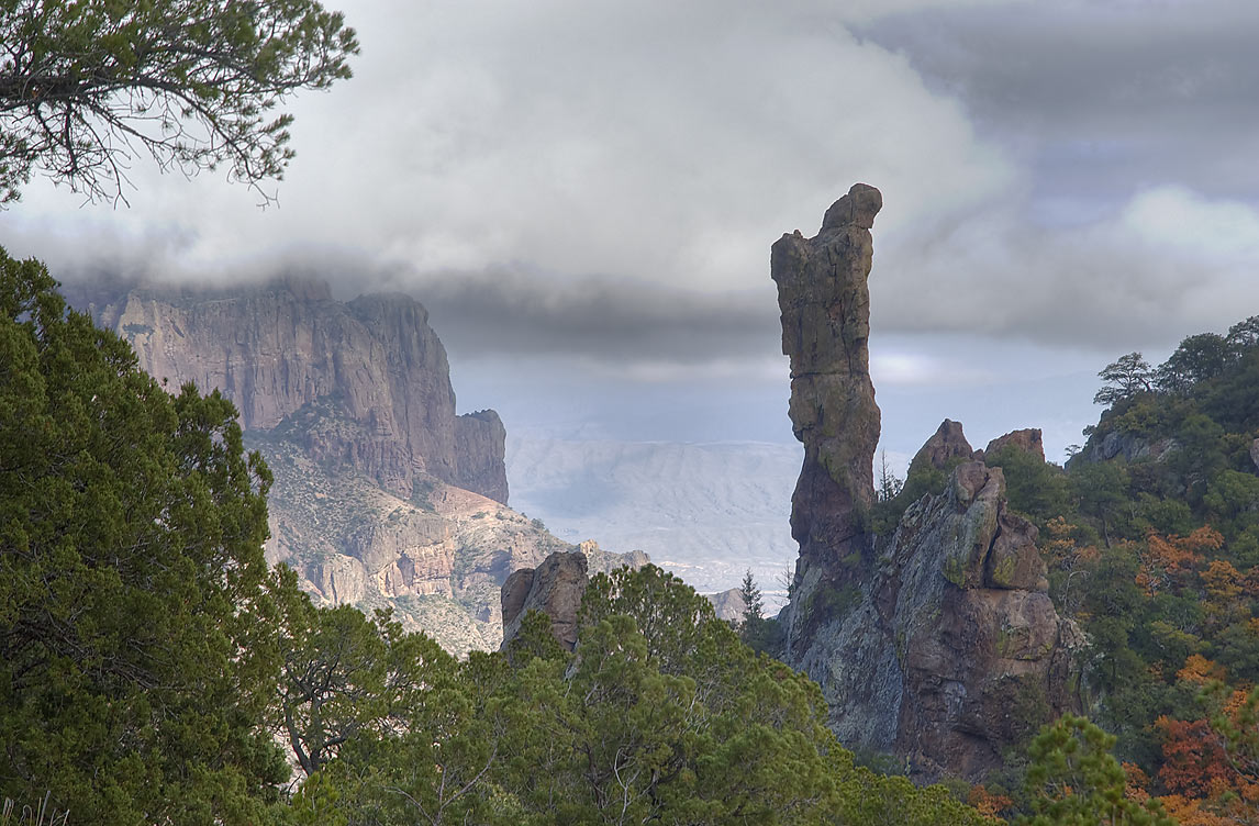 Boot Rock, view from Boot Spring Trail. Big Bend National Park