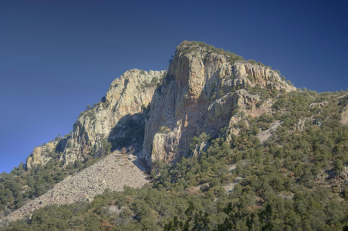 Emory Peak from lower section of Southwest Rim Trail. Big Bend National Park