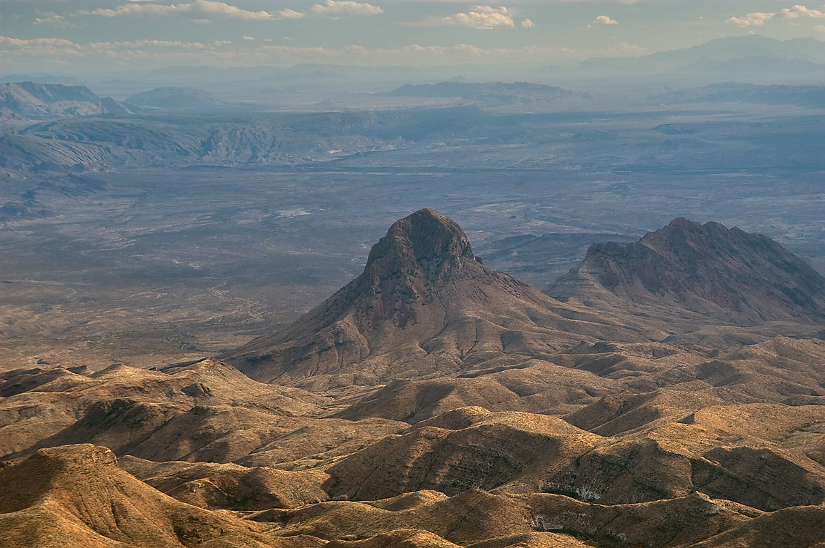 Elephant tusk Mountain from Southeast Rim. Big Bend National Park