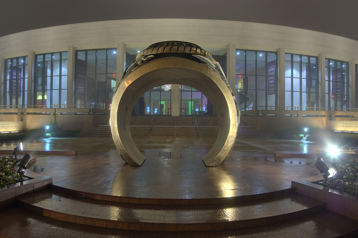 Big Aggie ring replica and Clayton Williams...M University. College Station, Texas
