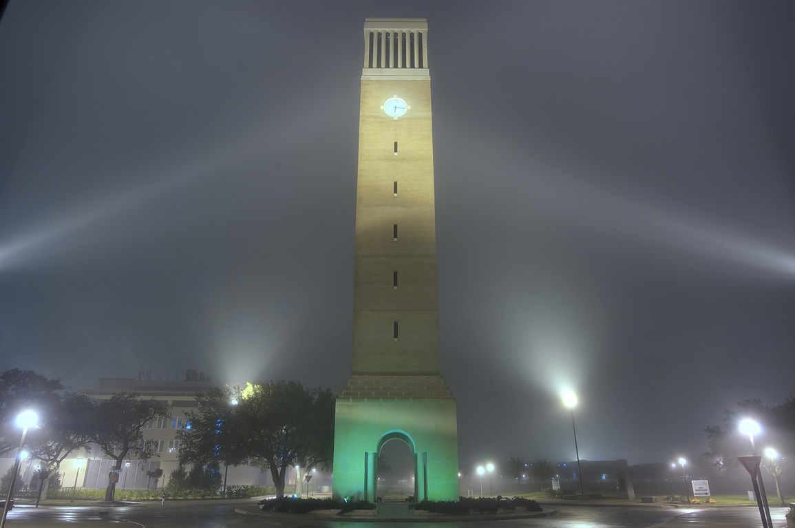 Albritton clock tower on campus of Texas A&M University. College Station, Texas