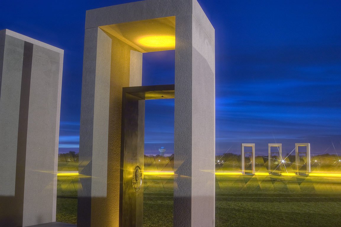 Portal of bonfire memorial on campus of Texas A&M University. College Station, Texas